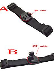 Gopro Accessories 360 degree Helmet Strap Black Edition for Go pro Hero 1234 Xiaomi Yi Sjcam Sj4000 Sj5000 Sport Camera