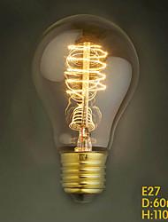 E27 40w A19 провод внешней популярным украшением Эдисон ресторане отеля накаливания