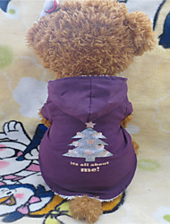 Dog Hoodie Purple Dog Clothes Winter Christmas