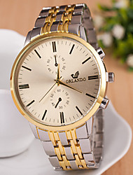 Women's Men's Unisex Fashion Watch Quartz Alloy Band Vintage Gold