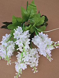 "7 Forks 14"" White Purple Light Purple  Artificial Hyacinth Flower Set of 5"