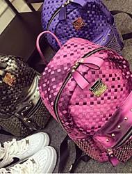 2015 New Colorful Woven Rivet Punk Street Fashion Casual Shoulder Computer Bag
