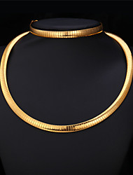TopGold  Choker Snake Necklace Chain Bracelet Set 18K Gold Plated 316L Stainless Steel Jewelry for Women High Quality