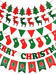 Новогодние украшения магазины потолок, украшенный ля Флаги дерево флаг олень фестиваль, случайные доставки