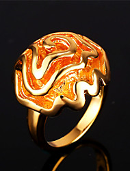 Vogue New Cute Flower Ring for Women Romantic Rose 18K Gold Platinum Plated Jewelry High Quality
