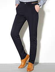 Men's Slim Suits , Trousers Casual / Work / Formal Pure Cotton / Spandex / Polyester