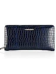 CKI Men Wallet Vintage Genuine Leather Unique Design Briefcase Men Top Layer Cowhide Business Clutch Bags Blue