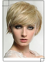 Soft Charming Trend Human Virgin Remy Hair Hand Tied -Top Short Capless Wigs