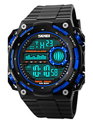 Skmei® Men's Big Size Dial PU Band Outdoor Sports LED Wrist Watch 50m Waterproof Assorted Colors Cool Watch Unique Watch