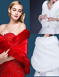 Wedding / Party/Evening / Casual Faux Fur / Imitation Cashmere Shawls Sleeveless Wedding  Wraps / Fur Wraps / Shawls