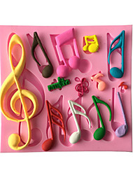 Music Note Decoration Fondant Mold Cake Decoration Mold