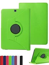 Для Кейс для  Samsung Galaxy со стендом / Флип / Поворот на 360° Кейс для Чехол Кейс для Один цвет Искусственная кожа SamsungTab 4 10.1 /