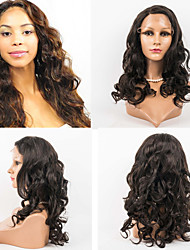Long Wavy Lace Front Wig Swiss Lace Human Hair Wig 10inch-26inch Fashion Beauty Lace Wig For Black Woman