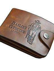 Carteira / Porta Dinheiro-Masculino-Couro Ecológico / Couro de Gado-Casual / Uso Profissional