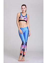 Running Bottoms / Clothing Sets/Suits / Bra / Pants Women's Sleeveless Lightweight Materials / Sweat-wicking Polyester / TeryleneYoga /