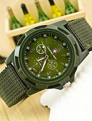 Hombre Reloj Cuarzo Reloj Militar Tejido Banda Reloj de Pulsera