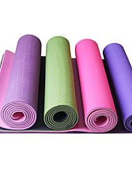 TPE Yoga Mats  Odor Free / Sticky / Eco Friendly / Quick dry (1/4 inch) 6 Red / Blue / Green / Dark Purple LEFAN