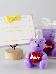Purple Bear Candles European Style Smokeless Tasteless Candles Holiday / Music Modern/ Romantic Wedding