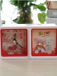 rt bonito combinação quadro teddy bear o despertador