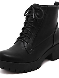 Women's Shoes Low Heel Combat Boots Boots Casual Black