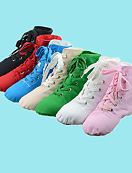 Non Customizable Women's / Men's / Kids' Dance Shoes Jazz / Dance Sneakers Satin Low HeelBlack