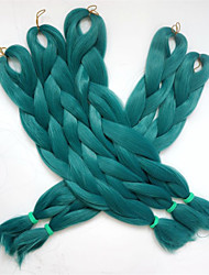 "1PC 24"" 80G Emerald green/teal Kanekalon Senegalese Twist Xpression Synthetic Jumbo Box Braiding Hair"
