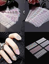 Autocolantes de Unhas 3D / Jóias de Unhas - Punk - para Dedo - de PVC - com 4pcs - 145*75mm