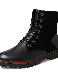Men Leather Martin Boots Snow Boots Ankle Boots