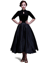 Ballroom Dance Dresses&Skirts Women's Performance / Training Velvet Pattern/Print 1 Piece