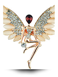 opala cristal broche asas angel girl