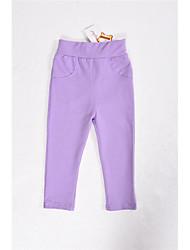 Girl's Pants High Waist Candy Color Pencil Pants (Cotton)