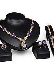 Women's Alloy / Rhinestone Jewelry Set Amethyst