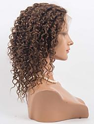 """10 """"-26"""" brasileiras do cabelo virgem 100% perucas do laço do cabelo humano cabelo encaracolado perucas"""