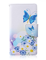 Butterfly Pattern PU Leather Material Flip Card  for Samsung Galaxy A3/A5