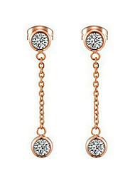 Drop Earrings Women's Stainless Steel Earring Cubic Zirconia