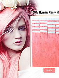 16-24 Inch 20pcs/pack Tape In Remy Human Hair Extensions Straight Skin Weft Hair Extensions 20 Colors Available