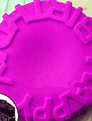 DIY Silicone Happy Birthday  Cake Mold Chocolate Mold   Random Color