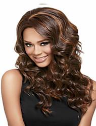 color de mezcla sintética de las mujeres largas pelucas de onda superiores en quallity y razonables en el precio