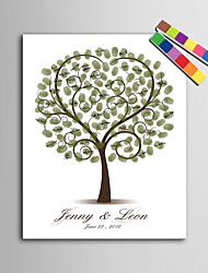 E-HOME® Personalized Fingerprint Painting Canvas Prints - Love Tree (Includes 12 Ink FColors)