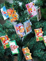 Christmas Tree Decorations Christmas Greeting Card Supplies Party Decorative Crafts(12 PCS Pattern Random)