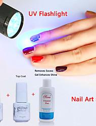 yemannvyou®nail art eingestellt UVspitzenmantel Gel&Primer Basislack&Reiniger plus&UV-Blitz