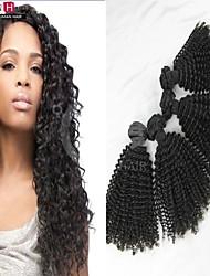 """4 unidades / lote 8 """"-24"""" super venda de cabelo encaracolado Kinky brasileiro tece cor natural nenhum emaranhado ou queda de cabelos tece"""