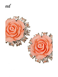 Boucle Forme de Fleur Boucles d'oreille goujon Bijoux 2pcs Mariage / Soirée / Quotidien / Décontracté Alliage / Résine / Plaqué argent