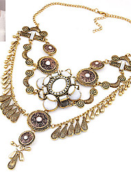 European Style Fashion Trend Shiny Metal Droplets Necklace