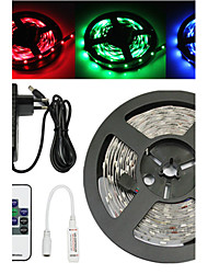 Waterproof 5M 300X3528 SMD RGB LED Strip Light and 10Key RF Controller and 3A EU US UK AU Power Supply (AC110-240V)