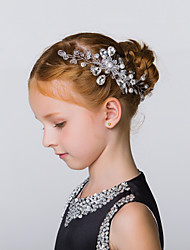 Flower Girl's Alloy Headpiece-Wedding / Special Occasion / Casual / Outdoor Hair Combs 1 Piece Ivory