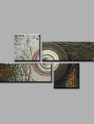 Ready to Hang Stretched Hand-Painted Oil Painting on Canvas Wall Art Contempory Abstract Modern Home Deco Four Panels