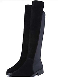 Woman A female knee-high boots/flat boots