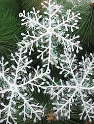 3PCS 11CM Flicker Snowflake Christmas Trees Decorate