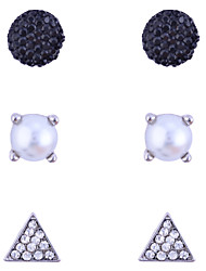 Earring Stud Earrings Jewelry Women Party / Daily / Casual Crystal / Alloy / Imitation Pearl 1set